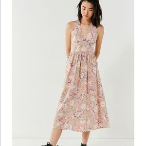 U.O. Floral halter midi dress